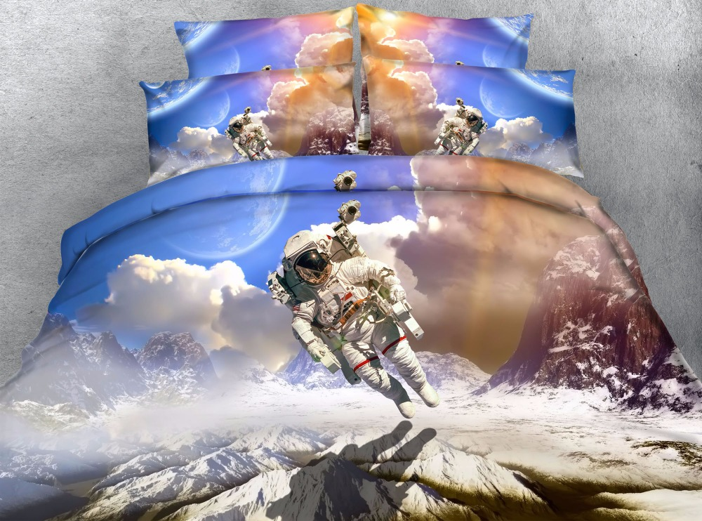 astrona print comforter bedding set 3d blue sky bed cover twin full queen king size universe cloud kids child decor gift