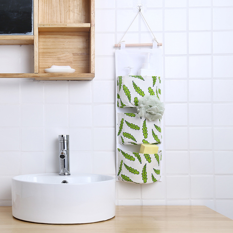 Cotton Linen Storage Hanging Organizers Decor Sundries Bag Gadgets Hanger Door Wall Clothing Wardrobe Accessories Supplies Items