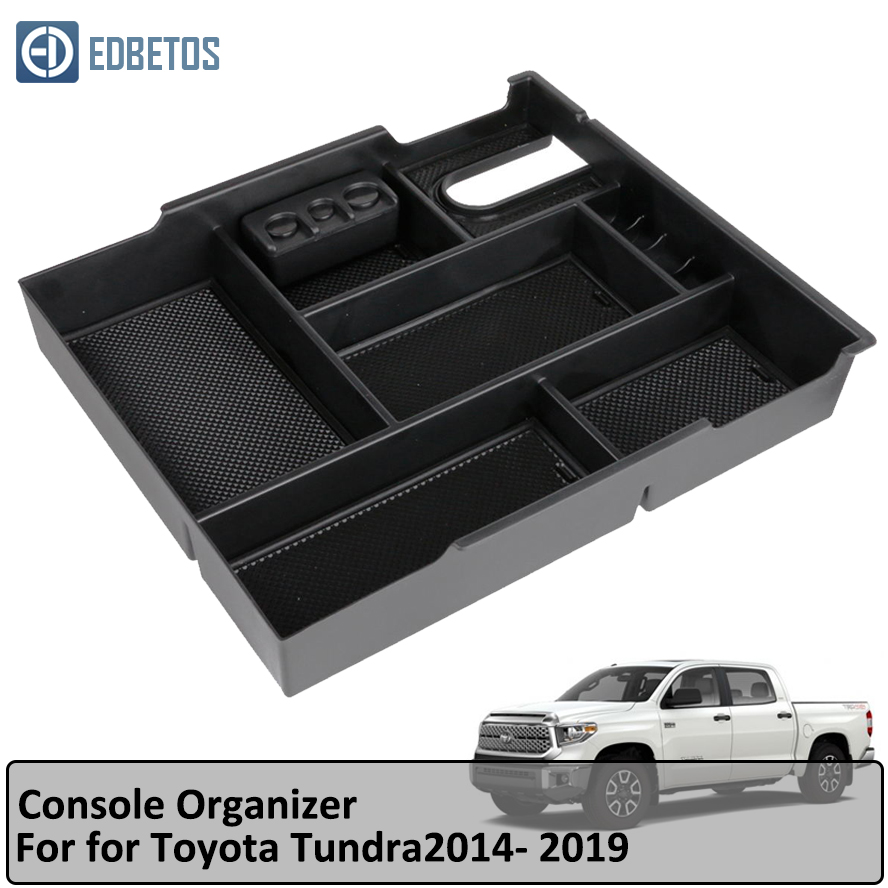 2017 Toyota Tundra Accessories >> Us 13 59 32 Off Armrest Storage Box For Toyota Tundra 2014 2015 2016 2017 2018 Tundra Center Secondary Tray Organizer Box Tundra Accessories In