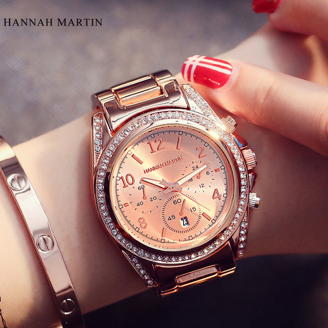 Hannah Martin Quartz-watch Women watches Luxury famous brand Watches women femal