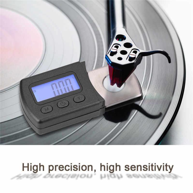 Portátil Turntable Stylus Força Digital Bitola Métrica LCD Backlight Escala de Alta Precisão de Rastreamento Agulha de Calibre Para O Disco De Vinil LP