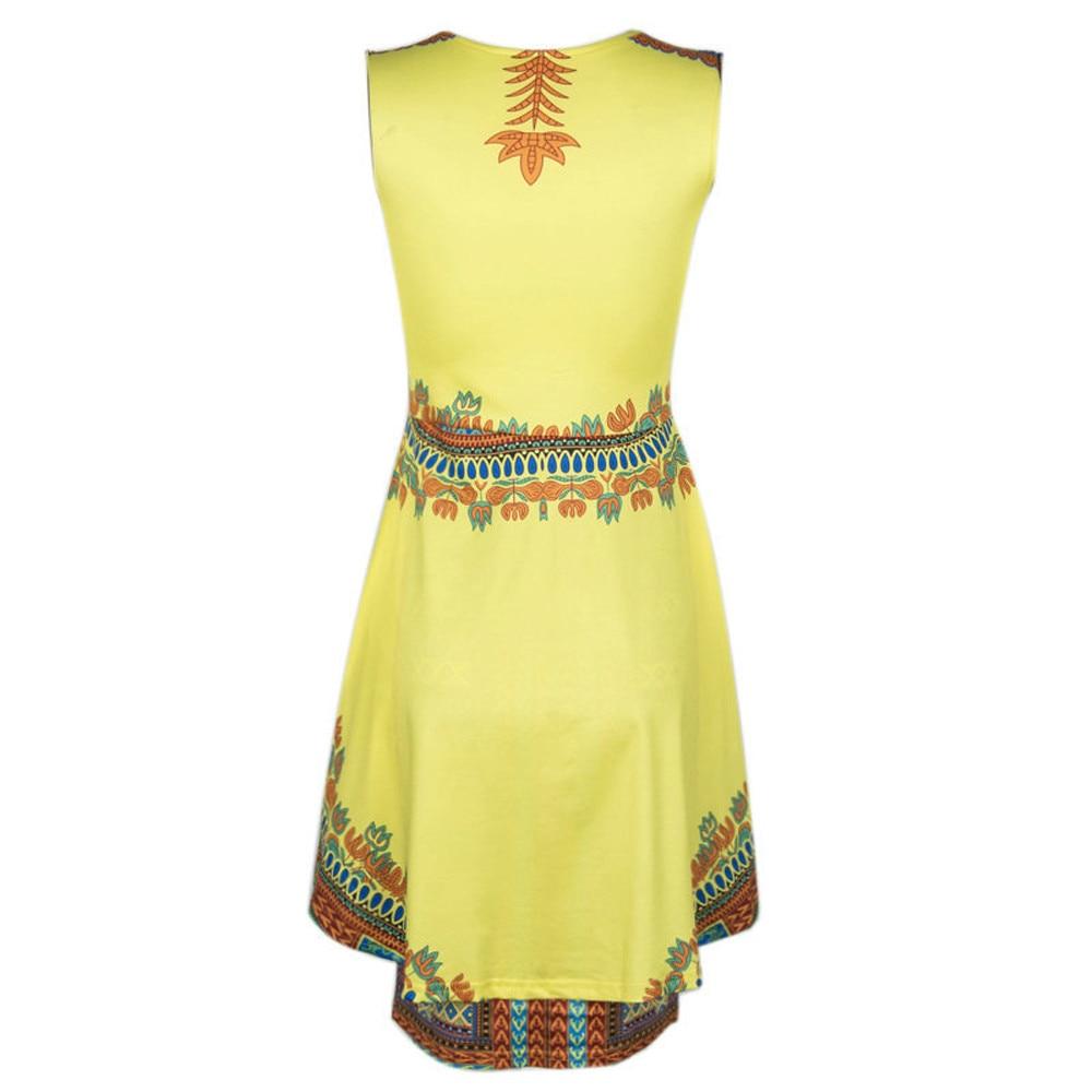 Sommer Vintage Gelb Ethnische Muster Traditionelle Afrikanische ...