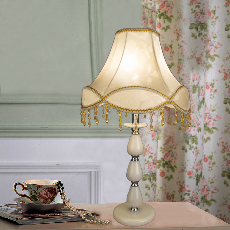 TUDA 30X53.5cm Free Shipping White Marble Table Lamp European Style Table lamp Lamp Cloth Lampshade Table Lamp For Bedroom E27 tuda 30 5x70cm free shipping european style table lamp led table lamp romantic design home decor table lamp for bedroom foyer