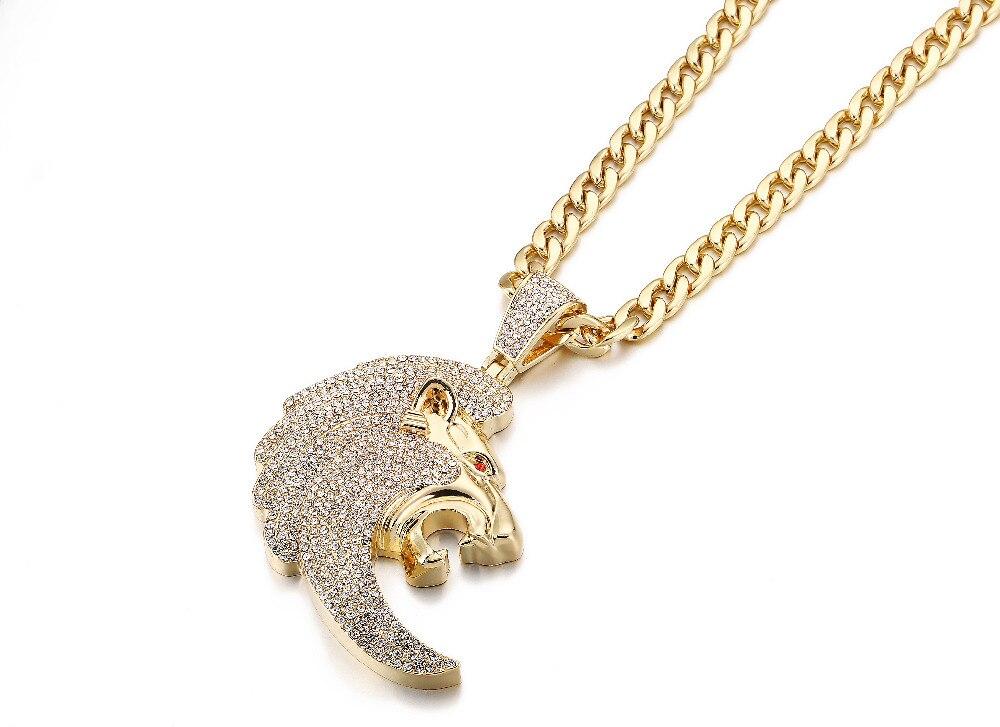 Aliexpress Com Buy Fashion Jewelry Iced Out Lion Head