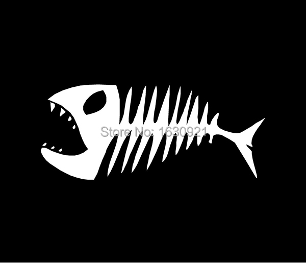 Online get cheap skeleton fish alibaba group for Fish skeleton decal