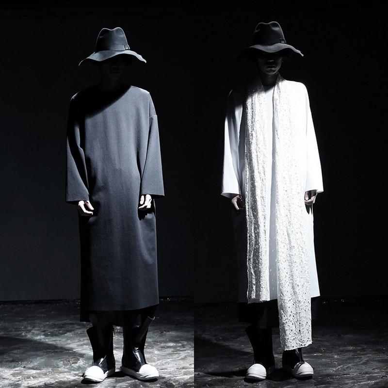 shirt 2016 Mode La Base T Taille Manches Longues Hommes Costumes Vêtements Gd Scène Chemise Chanteur Lâche Plus À Moyen long De tqtrpWTPB