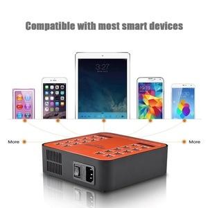 Image 5 - Go2linK USB 充電器 40 ポート 200 ワット 5 ボルト充電ステーション Led ディスプレイユニバーサル iphone 8 7 6 6 s プラスレストラン空港