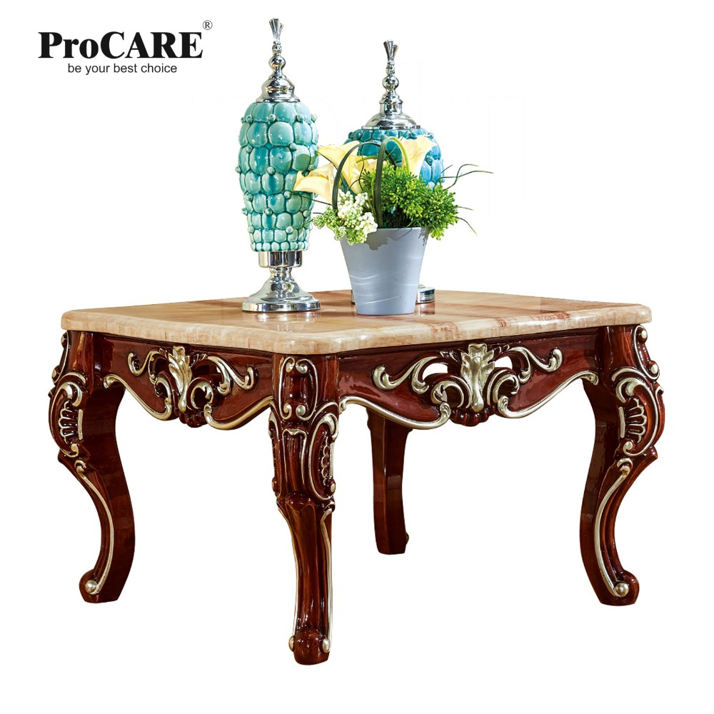 Antique solid wood sofa side table for luxury European style furniture set from Brand ProCARE procare european style solid wood white dressing table set dresser