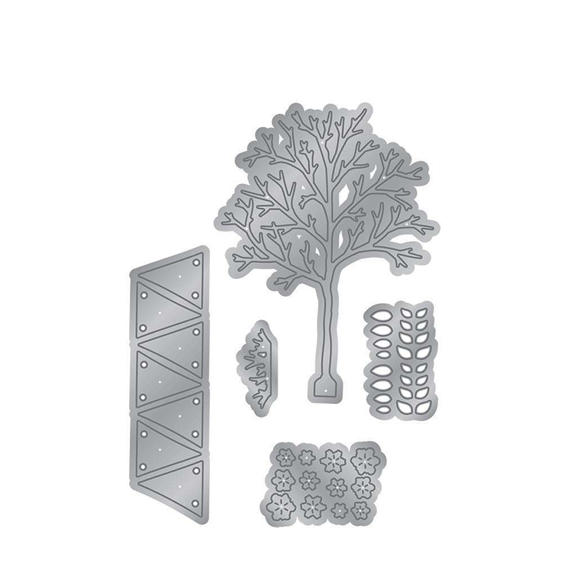 Garden Tree Metal Cutting Dies Stencils For DIY Scrapbooking Paper Cards Making Crafts Fun Decoration New Handmade Embossing in Cutting Dies from Home Garden