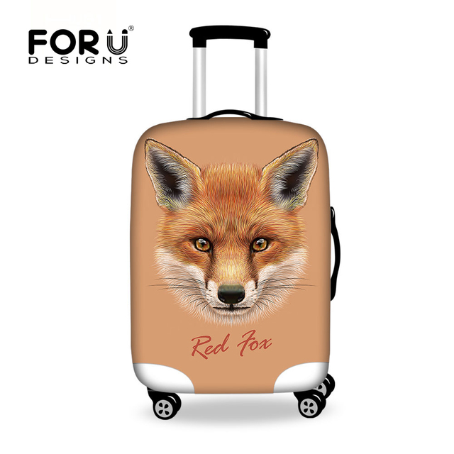 Forudesigns 3d Fox Prints Travel Luggage Protective Cover For 18 30 Inch Trolley Suitcase