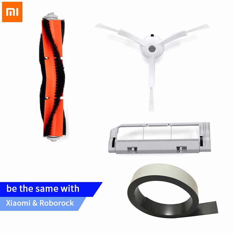 Original Xiaomi Robot aspiradora parte de filtro HEPA cepillo principal de herramienta lado cepillo para mijia/roborock Aspiradora