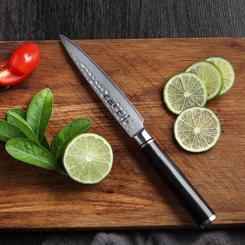 5 inch Utility Knife Kitchen Knives Brand Japanese VG10 Damascus Steel 2018 High Quality Paring Knife Cooking Tools Ebony handle5 inch Utility Knife Kitchen Knives Brand Japanese VG10 Damascus Steel 2018 High Quality Paring Knife Cooking Tools Ebony handle