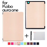 Ultra Slim PU Leather Cover Case For Kobo Aura One 7 8 Inch EBooks Case Protector
