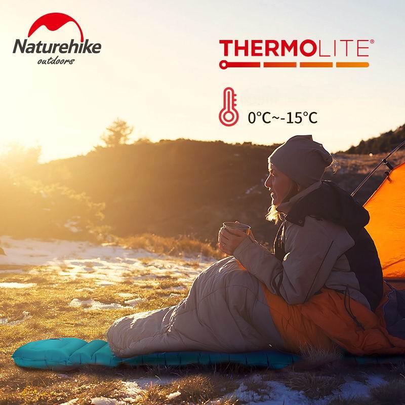 Naturel randonnée TPU matelas gonflable momie appuyez manuellement sur les coussinets de couchage ultra-léger tapis de Camping tente coussin d'air coussin extérieur hiver - 3