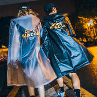 Impermeable de plástico transparente para mujeres y hombres Poncho largo Impermeable femenino chaqueta Impermeable para mujeres 50KO193