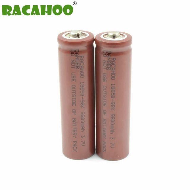 R$ 11 7  RACAHOO 2 PCS 3 7 V 9800 mAh 18650 Bateria Recarregável de Iões De  Li bateria Lanterna LED atacado em Baterias recarregáveis de