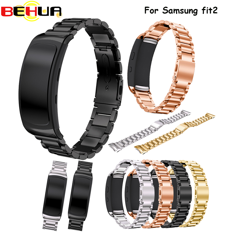 Stainless Steel Bracelet Watch Band Strap For Samsung Gear Fit 2 SM-R360 Smartwatch Replacement Wristband for Samsung Gear fit2 for gear fit2 watch band gear fit2 stainless steel bracelet strap replacement band wristband for samsung gear fit 2 sm r360