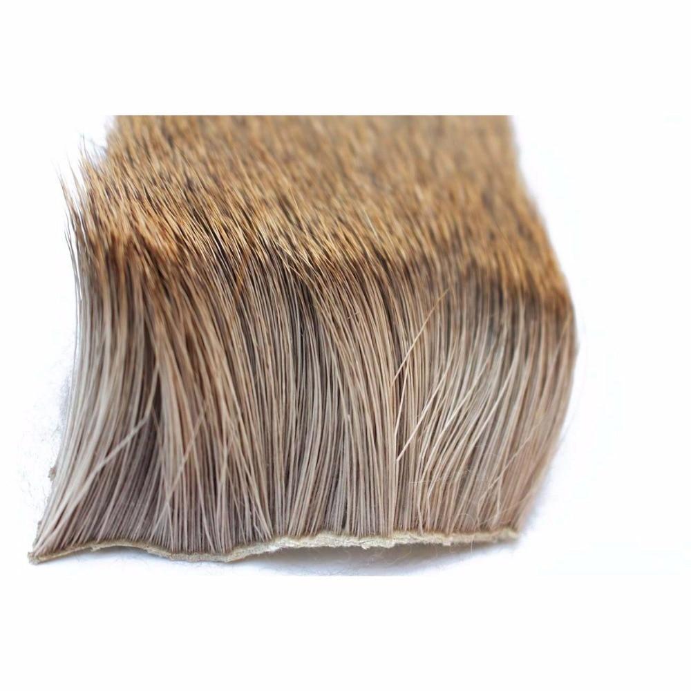 Tigofly 2 vnt / partija Elk kūno plaukai ilgas storas kailis 6cmX6cm - Žvejyba - Nuotrauka 3