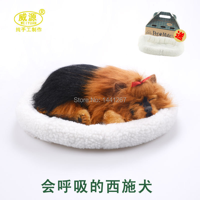 simulation animal pet dog children gift ornaments home accessories will breathe dog model toy