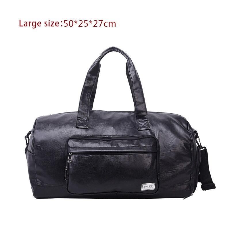 Мужская Дорожная сумка в стиле Лолиты, большая спортивная сумка, независимая обувь для хранения, большая сумка для фитнеса из искусственной кожи, женская сумка, сумки для багажа, спортивная сумка - Цвет: BlackE
