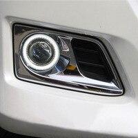Новый инновационный удара или LED глаза ангела дневного света + Галогенные Противотуманные фары объектив проектора для Toyota Alfa