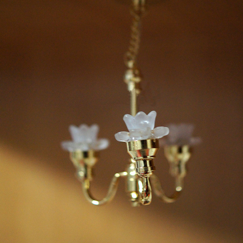Mini 1 :12 Scale Dollhouse Lamp Miniature Ceiling Light Play Doll ...