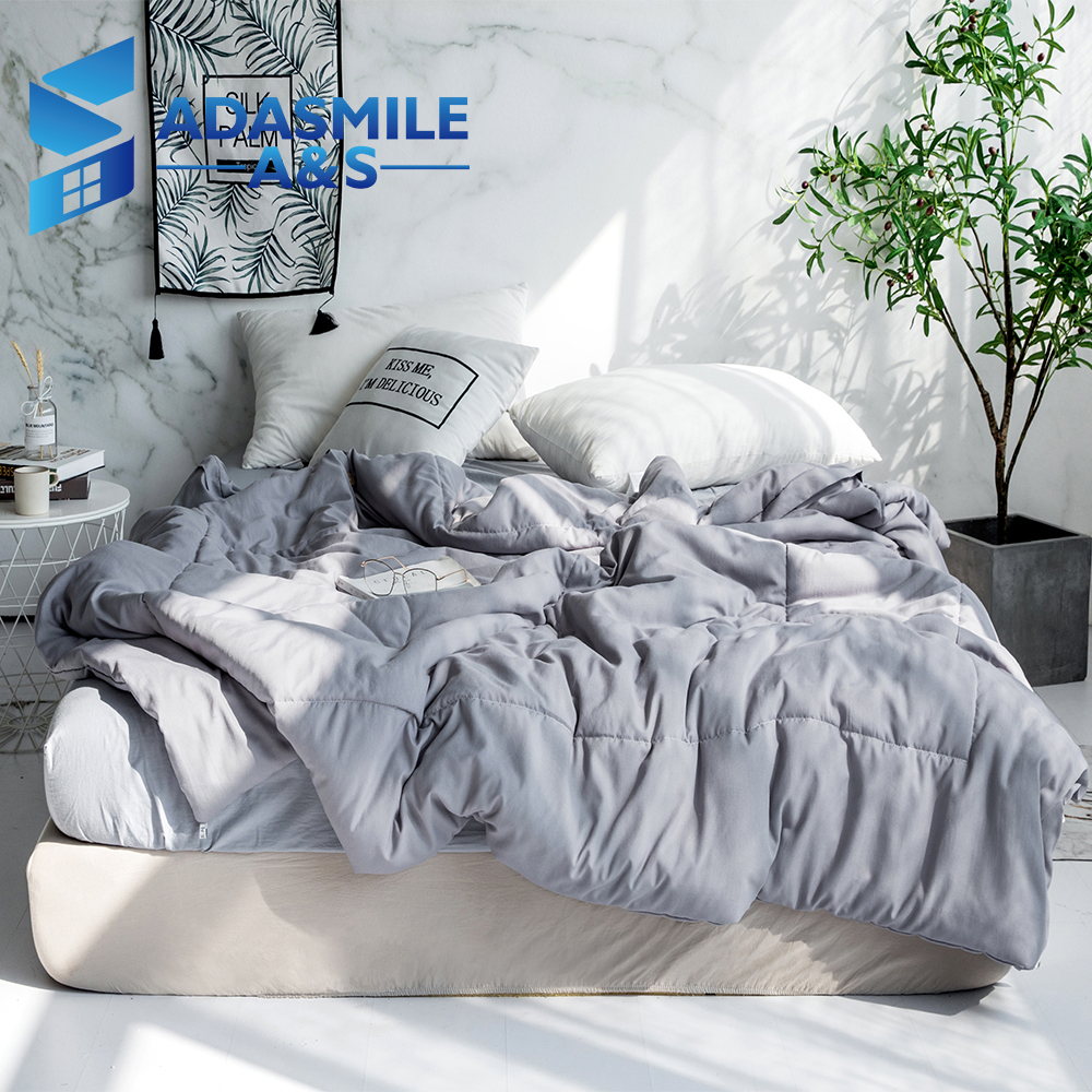 Nordic Solid Color Soft Quilts Bed Quilt Comforter Duvet Washable Quilted Adults Gray Aircondition Bedding Summer QuiltsNordic Solid Color Soft Quilts Bed Quilt Comforter Duvet Washable Quilted Adults Gray Aircondition Bedding Summer Quilts