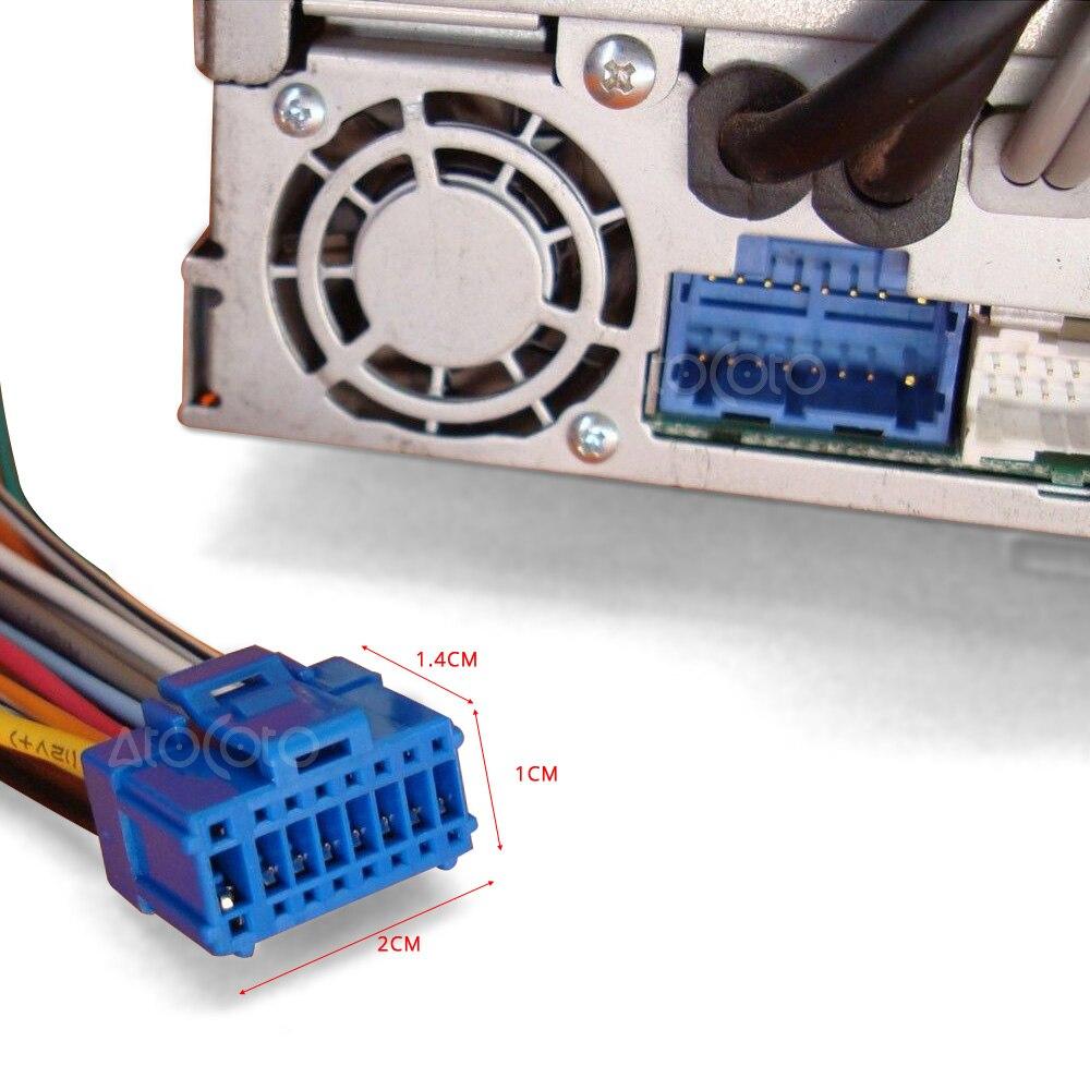 Für Pioneer AVH P6500DVD AVIC N1 N2 N3 16Pin Kupfer Kabelbaum Blau ...