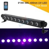 USA Stock 9*3W LED Lens Section UV Wall Wash Light DJ Wedding Party Stage Black Light