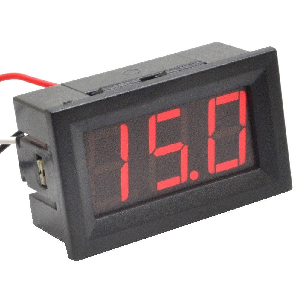 4pcs 3 Wire Dc0 100v 999v Red Led Digital Display Voltage Panel Meter Wiring Diagram