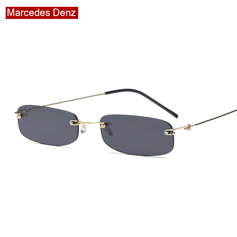 цены High Quality Small Square Sunglasses 2018 Fashion Women Men Vintage Brand Designer Rimless Ladies Retro Sun Glasses Female Male