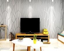 цены beibehang Simple modern non - woven wallpaper 3d stereoscopic video wall furniture papel de parede  papier peint