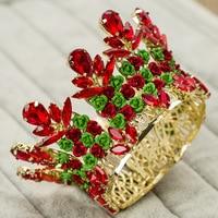 Europe Bridal Jewelry Gold Crown Tiara Headband High Baroque Retro Hair Accessories Wedding Accessories Corolla