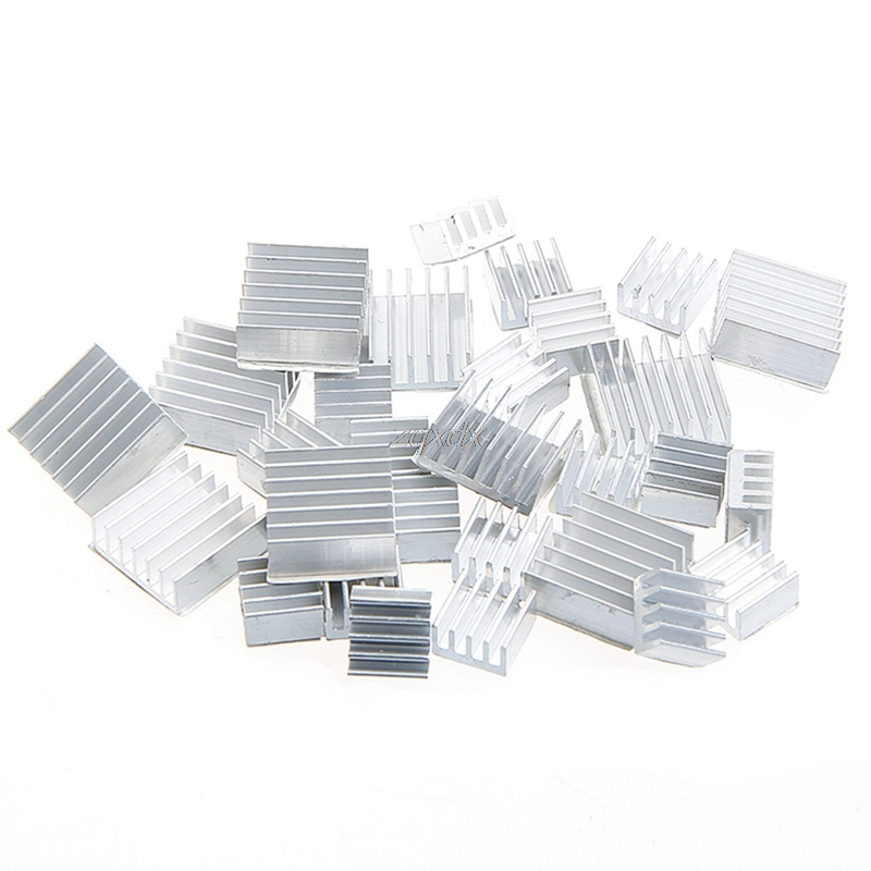 10Pcs Heatsink Fans Pure Aluminum Heat Sink For Cooling Pi 2 For Raspberry Pi 3 Z17 Drop ship jeyi cooling warship copper m 2 heatsink nvme heat sink ngff m 2 2280 aluminum sheet thermal conductivity silicon wafer cooling