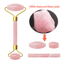Natural powder crystal jade roller massager scrapping board set for health
