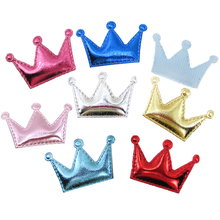 David accessories 45*30mm PU crown hair accessories 50 pieces, DIY handmade materials, wedding gift wrap,50Y45140