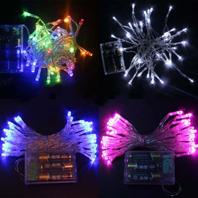 christmas decoration twinkle light led battery string light 4m 40leds holidaypartywedding color