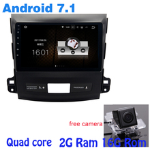 9″ Quad core Android 7.1 car radio gps for Mitsubishi outlander with 2G RAM wifi 4G USB RDS audio stereo mirror link free camera