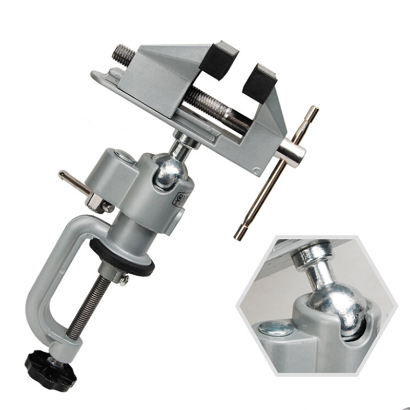 1pcs Aluminum MiniAture Clamp Professional Mini Vise Tool Aluminum Small Jewelers Hobby Clamp On Table Bench Vice Lathe Hot Sale image