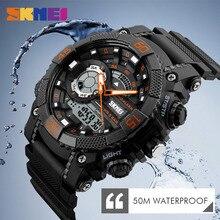 SKMEI Men Sports Watches LED Digital Dual Time Display Wristwatches Chronograph Alarm 50M Waterproof Watch Relogio Masculino цена
