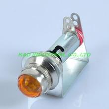 2pcs Chassis Mount Fenders Yellow Pilot Light Indicator Guitar Tube Audio AMP