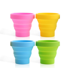 Outdoor Portable Silicone Telescopic Collapsible Folding Cup Camping Travel Tableware foldable cup camping wine glass