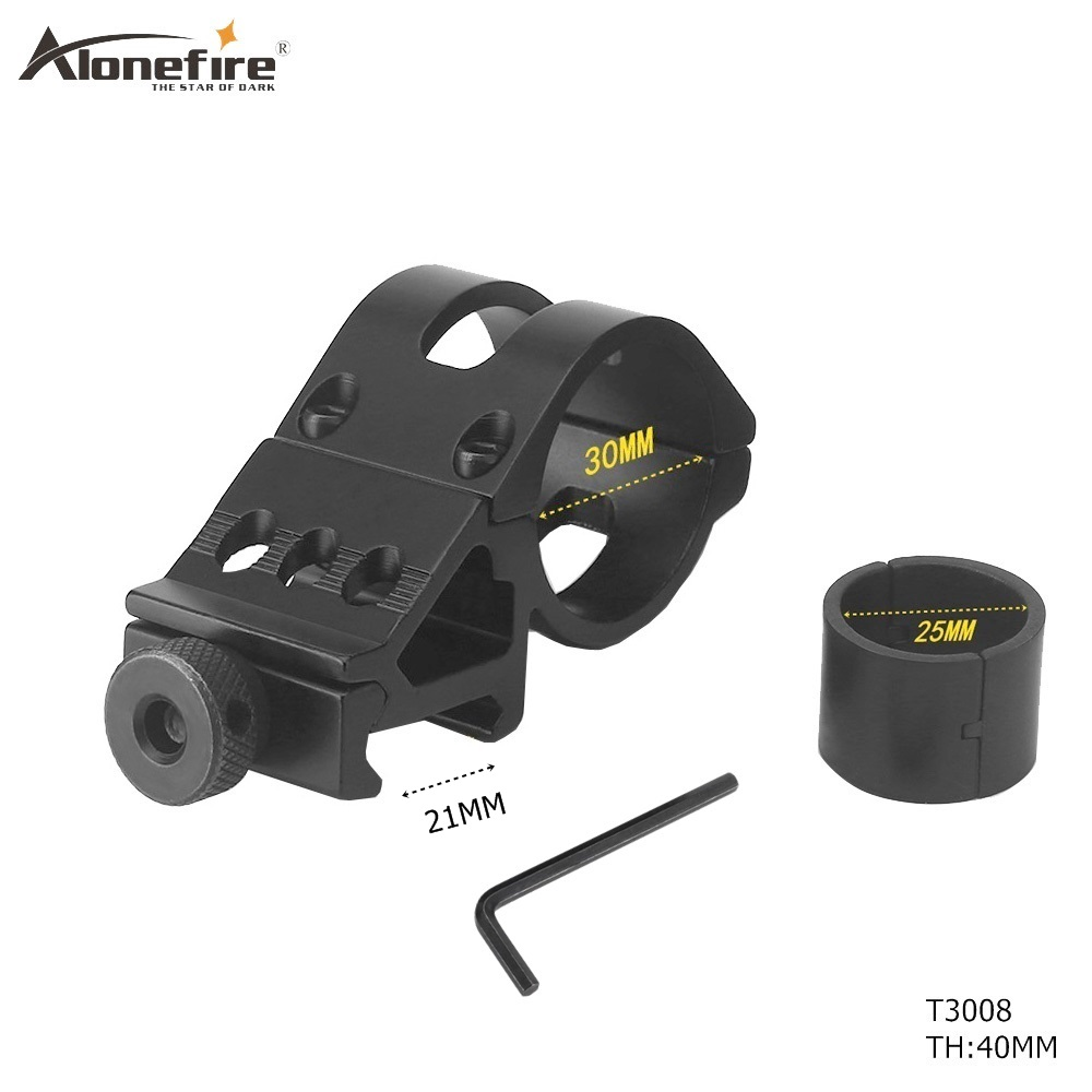 AloneFire 30mm Scope Ring High Profile Fit 21mm Picatinny Weaver Rail Mount Flashlight Mounts Hunting Accessories