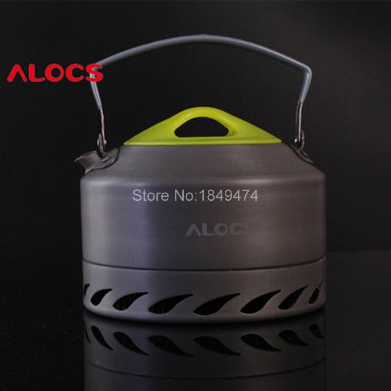 ALOCS 0.9l Портативный Чайники Открытый Отдых Выживание Кофе горшок воды чайник Алюминий Пеший Туризм лагерь готовить комплект 200 г
