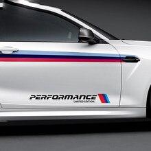 2pcs Car Body Sticker M Performance Emblem For Ford Focus MK2 BMW E60 E53 X5 F30 Audi Q5 Mercedes W203 Opel Astra Renault Megane(China)