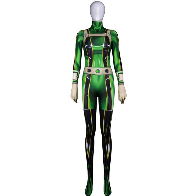 Anime My Hero Academia Asui Tsuyu Cosplay Costumes Women Girls Christmas Party Halloween 3D Jumpsuits Bodysuit High Quality