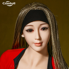 Cosdoll Cheap Price Real TPE Skin Euramerican Face Sex Toys Sex Doll Head with Free Eyes Wigs