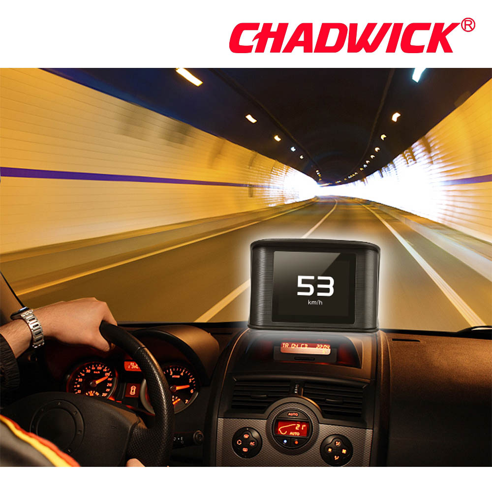 Image 2 - Automobile Trip On board Computer HUD Car Digital OBD2 OBD Driving Computer Display Speedometer Temperature Gauge CHADWICK P10-in Head-up Display from Automobiles & Motorcycles