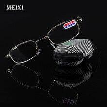 Foldable Clear Men Women Reading Glasses zipper Case with Belt Clip Presbyopic Unisex Eyewear +1.0+1.5+2.0+2.5+3.0+3.5 +4.0