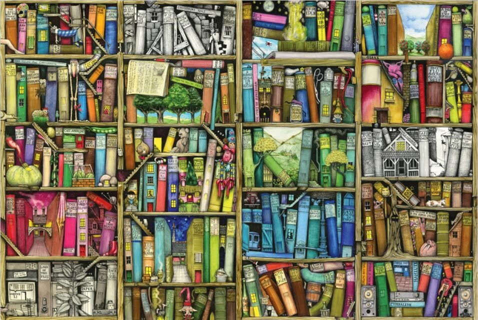 Bookshelf Puzzle 1000 Pieces Adult Puzzle Wooden Kid Toy Jigsaw Puzzles For Children Educational Toys Gifts